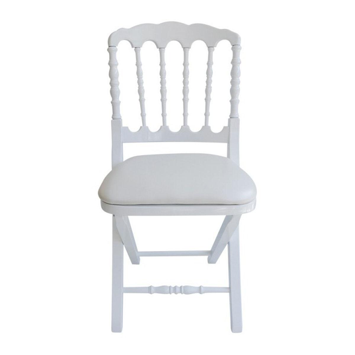 Chaise napol on pliante bois vente de mobilier de r ception - Chaise en bois pliante ...