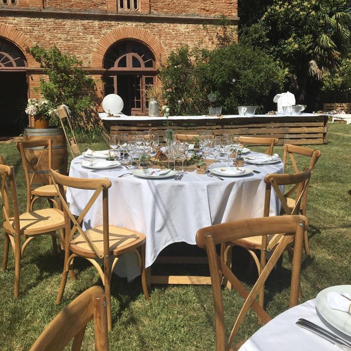 table pliante ronde bois 10 personnes imexia location de mobilier de r ception. Black Bedroom Furniture Sets. Home Design Ideas