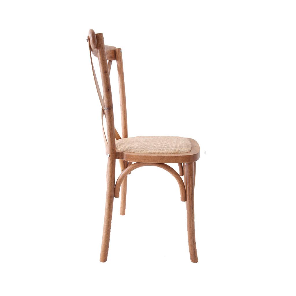 Chaise cross back imexia vente et location de mobilier for Vente chaise