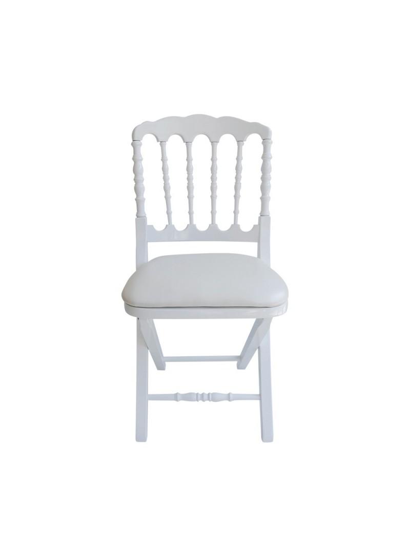 Chaise napol on pliante bois vente de mobilier de r ception for Chaise bois pliante