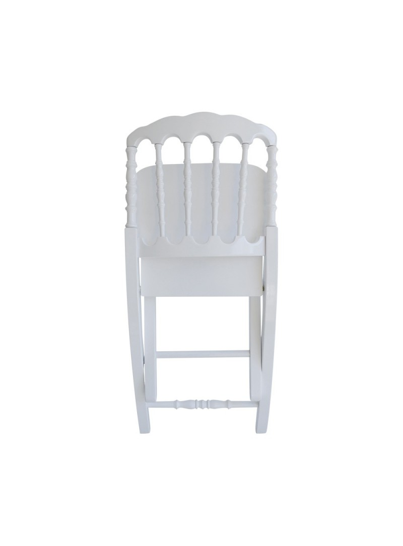 Chaise napol on pliante bois vente de mobilier de r ception for Chaise blanche accoudoir