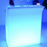 Bar lumineux droit avec bac